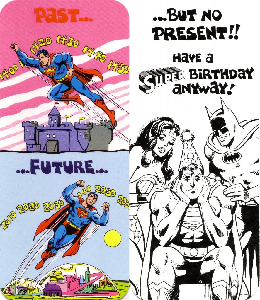 DC Comics Greeting Card - Superman, Batman and Wonder Woman