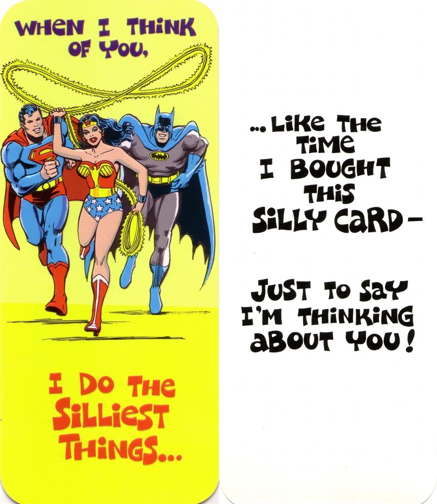 DC Comics Greeting Card - Superman, Wonder Woman and Batman