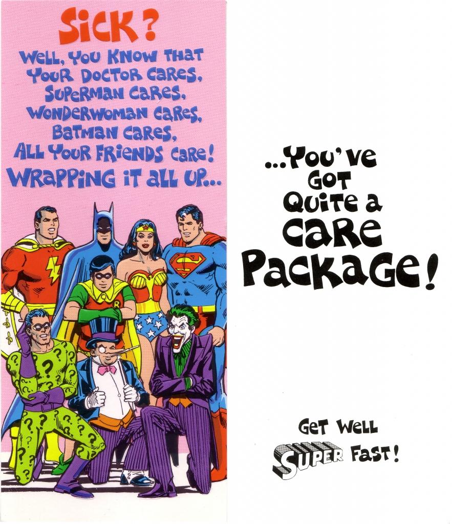 DC Comics Greeting Card - Shazam, Batman, Wonder Woman, Superman, Riddler, Penguin, and The Joker
