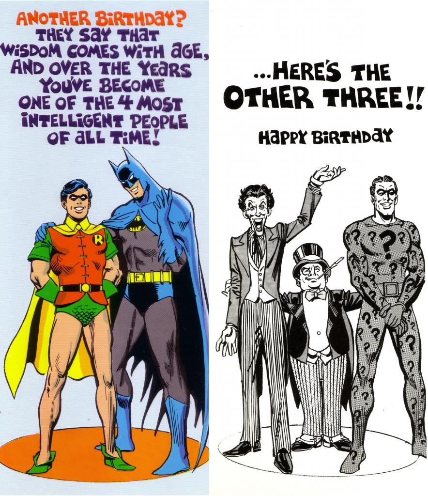 DC Comics Greeting Card - Batman, Robin, The Joker, Penguin and Riddler