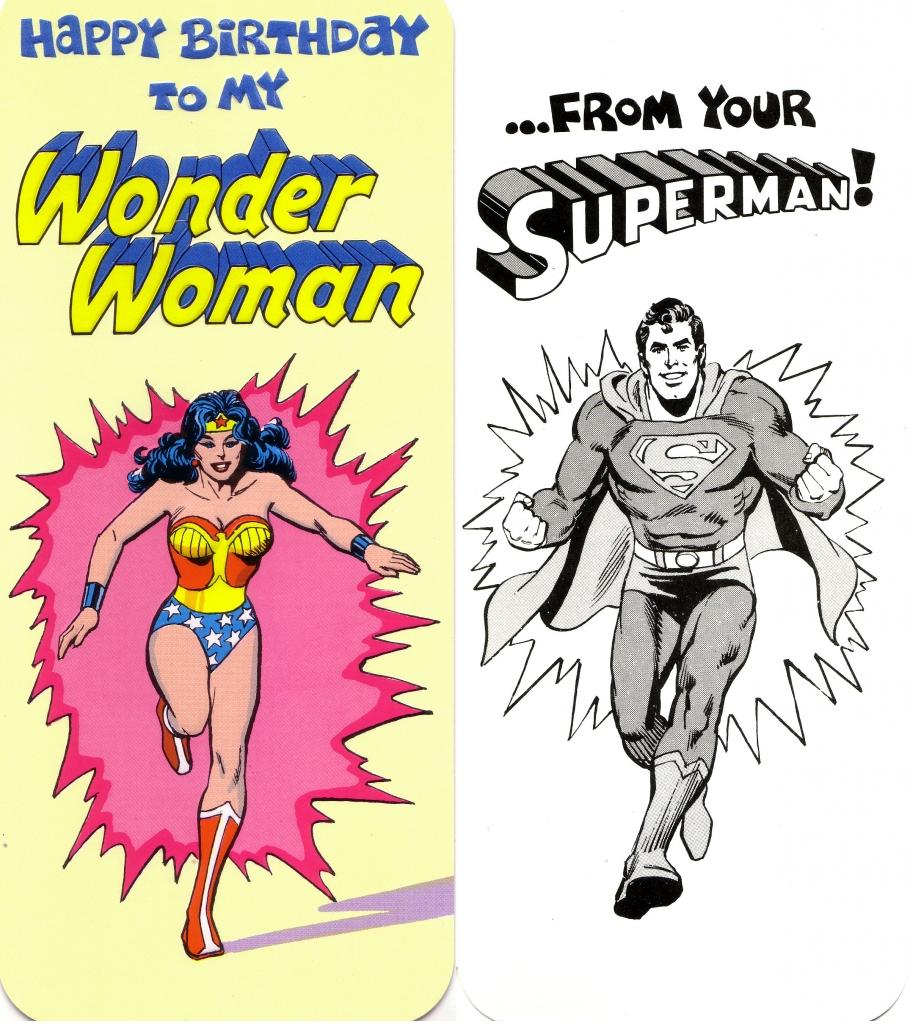 DC Comics Greeting Card - Superman and Wonder Woman