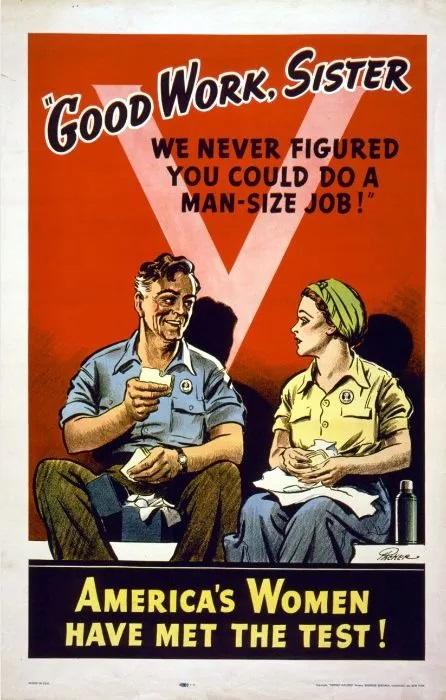"World War II Propaganda Poster - ""Good Work, Sister"""