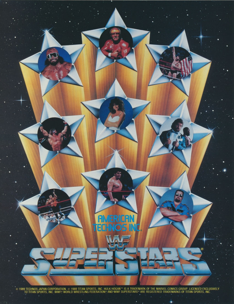 WWF Superstars Arcade Flyer, 1989