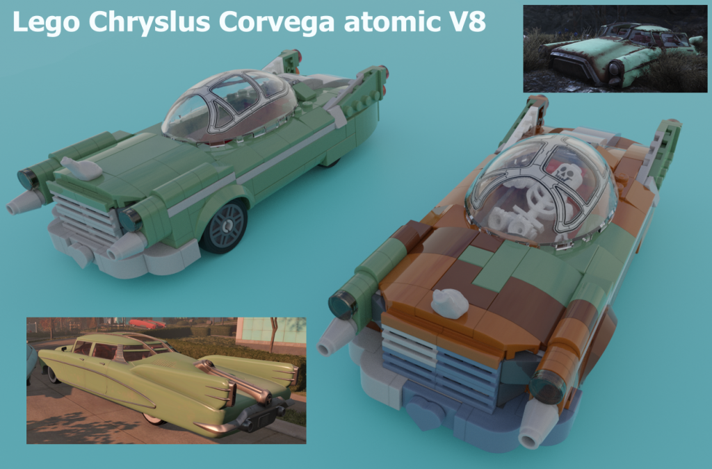 Lego Fallout 4 Chryslus Corvega Atomic V8