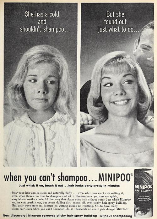 When you can't shampoo . . . MINIPOO