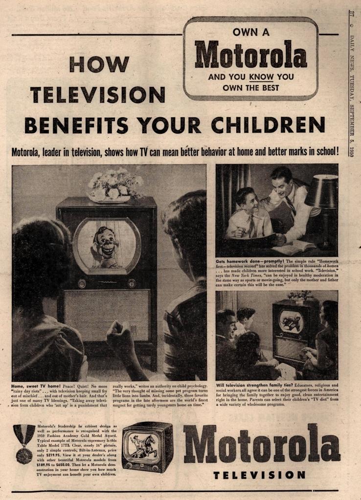 Motorola Ad: How Television Benefits Your Children
