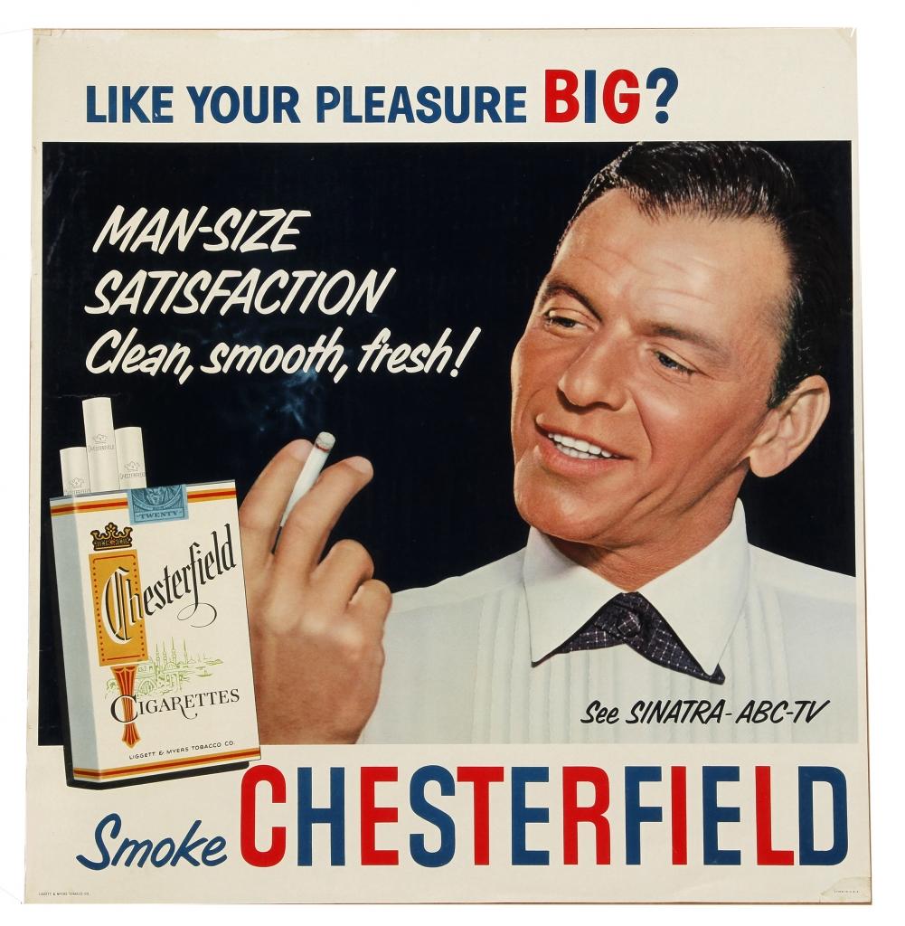 Chesterfield Cigarette Ad Featuring Frank Sinatra