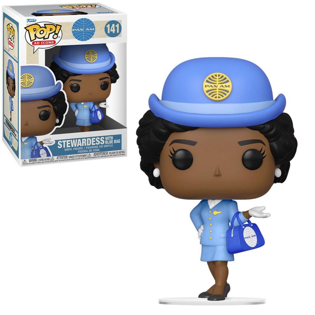 Funko Pop! Pan Am Stewardess With Blue Bag Vinyl Figure