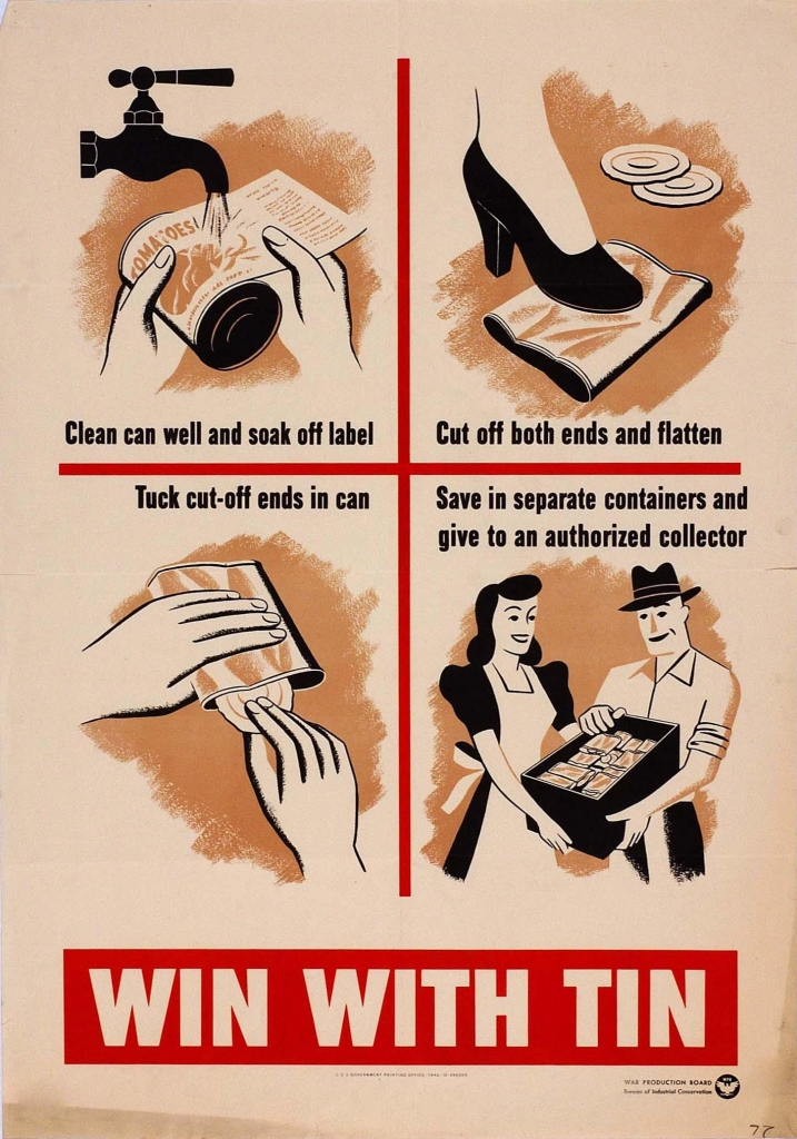 World War II Propaganda Poster - Win With Tin