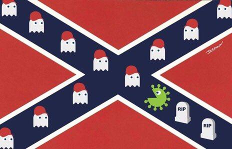 Coronavirus Confederate Flag