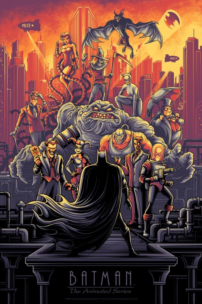 Batman: The Animated Series Poster by Dan Mumford