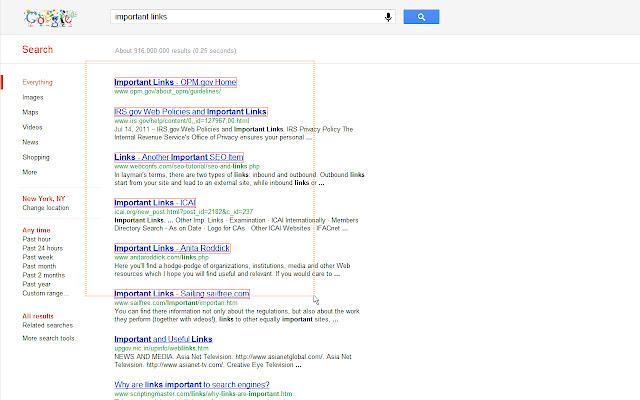 LinkClump Screenshot