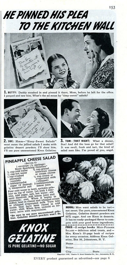 "Ad: Don't Feed A Man ""Sissy-Sweet"" Salad!"