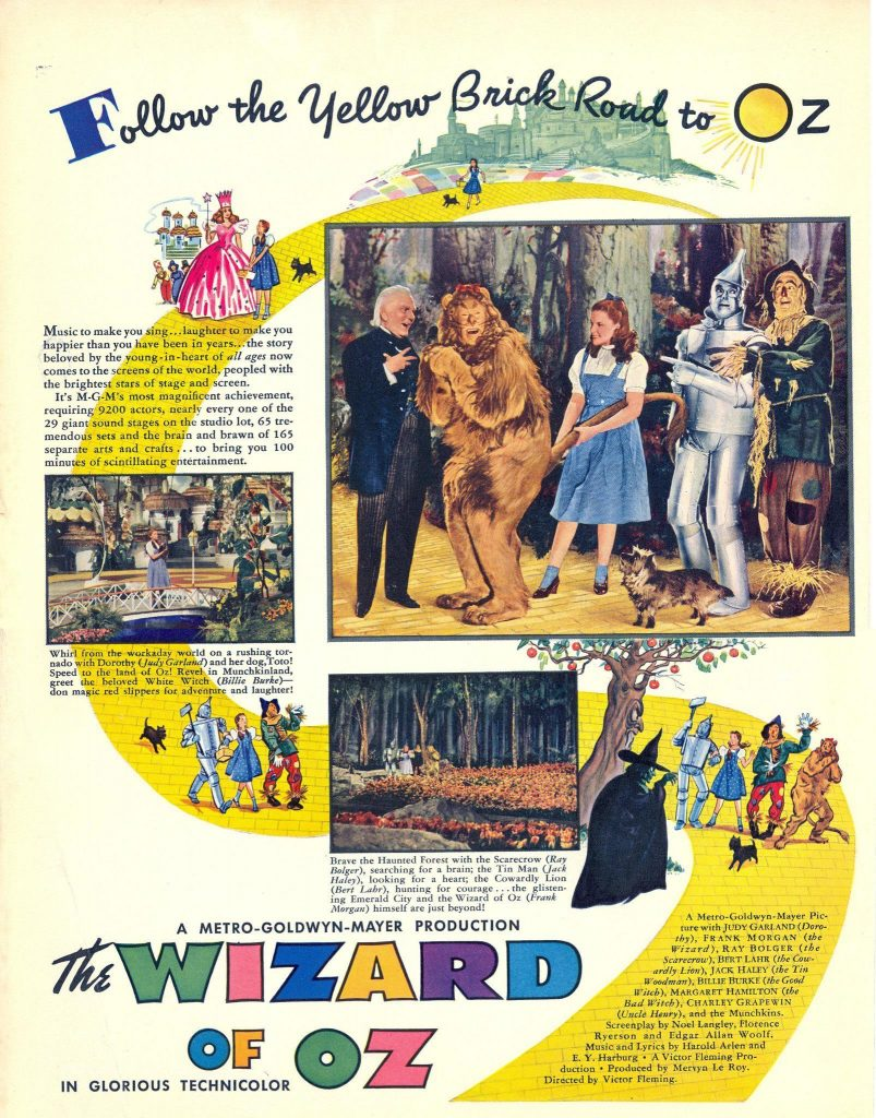 The Wizard Of Oz Ad, 1939