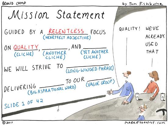 Mission Statement Comic