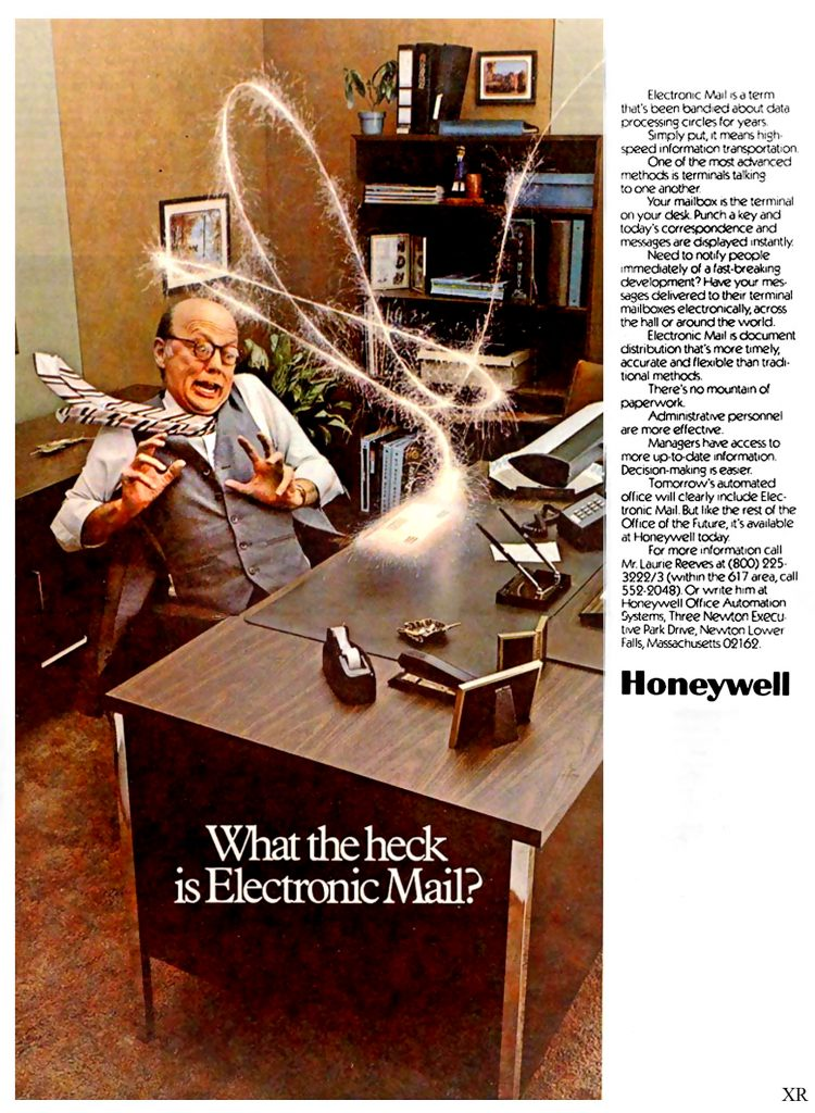 Honeywell Ad, 1977 - What The Heck Is Electronic Mail?