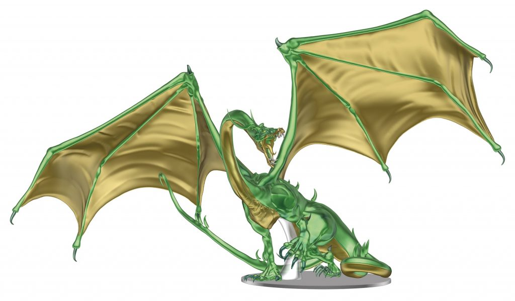 D&D Icons of the Realms: Adult Emerald Dragon Premium Figure