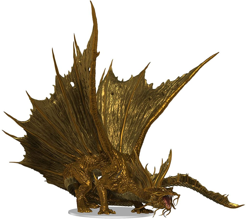 D&D Icons of the Realm: Adult Gold Dragon Premium Figure