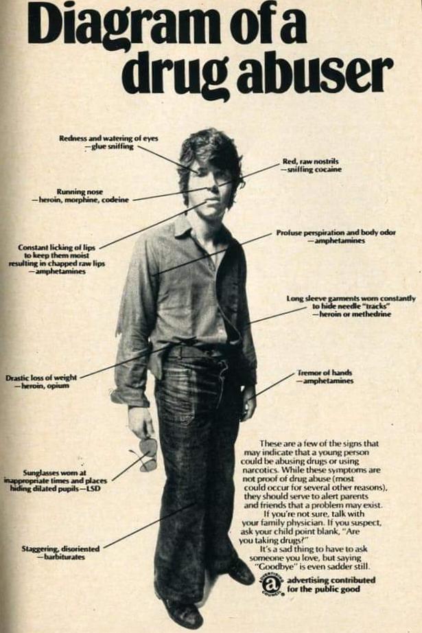 Ad: Diagram of a Drug Abuser