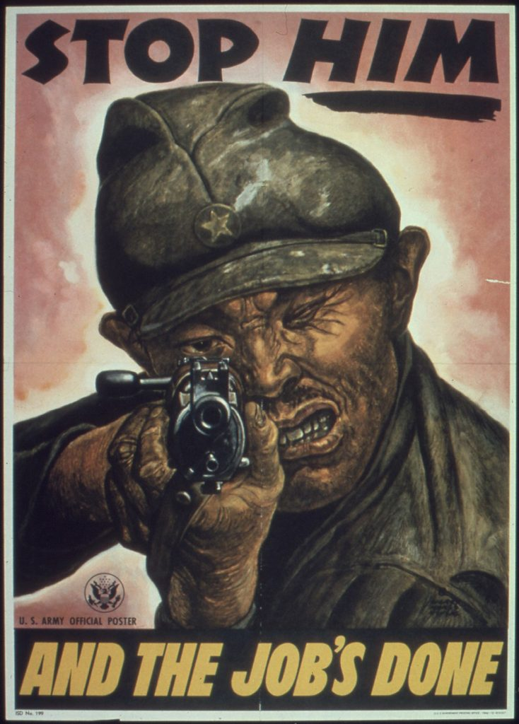 World War II Propaganda Poster -- Stop Him And The Job's Done
